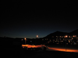 Longyearbyen at noon (January)