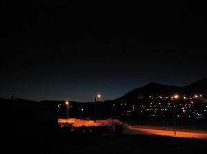 Longyearbyen at noon (January)
